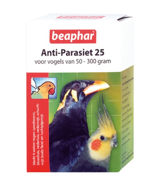Anti Parasiet Vogels 25 - 2 pipet