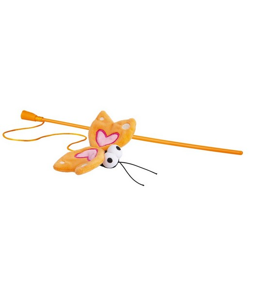 Rogz Catnip Butterfly Magic Stick Orange