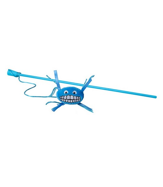 Rogz Catnip Flossy Magic Stick Blue