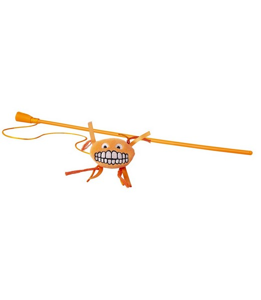 Rogz Catnip Flossy Magic Stick Orange