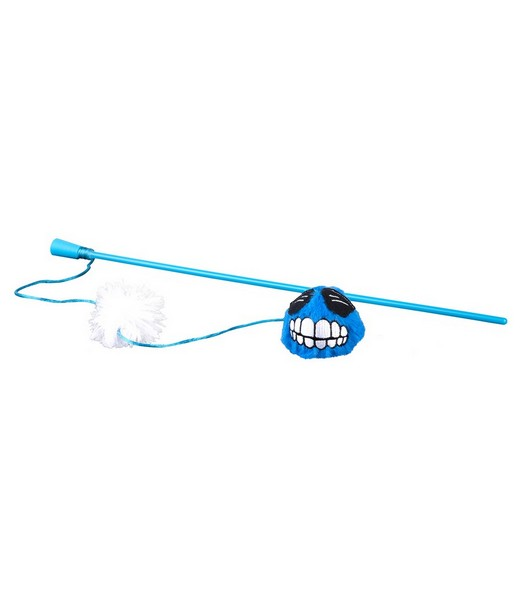 Rogz Catnip Fluffy Magic Stick Blue